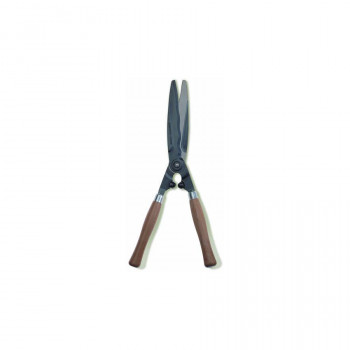 Wooden Handled Wavy-Blade Hedge Shear