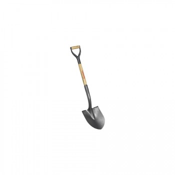 Corona SS-65010 #2 Round Point Hollow-Back Shovel, D-Handle