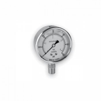 Dual-Scale Glycerin-Filled 2½″ Gauges - Stainless Steel - LM