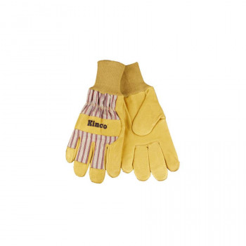 Pigskin Leather Glove with Knit Wrist