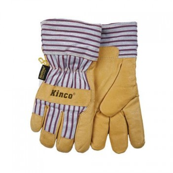 Lined Grain Pigskin Gloves